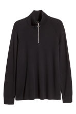 Jumper with a zip - Black - Men | H&M CN 2