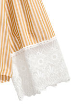 Striped blouse - Mustard yellow/White striped - Ladies | H&M CN 3