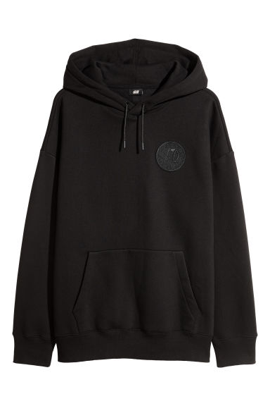 Oversized hooded top - Black/XO - Men | H&M IE