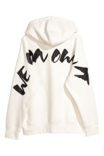 Oversized hooded top - White/XO - Men | H&M CN 3