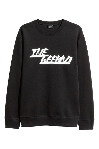 Printed sweatshirt - Black/The Weeknd - Men | H&M