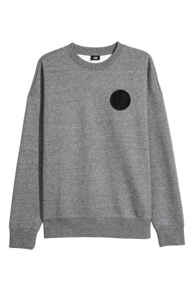 Oversized sweatshirt - Grey marl/XO - Men | H&M GB