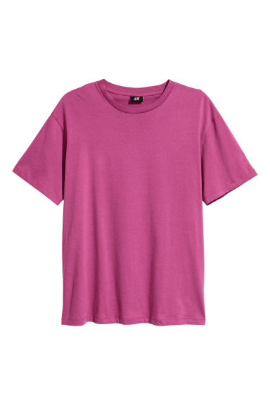 Wide T-shirt - Magenta/XO - Men | H&M CN