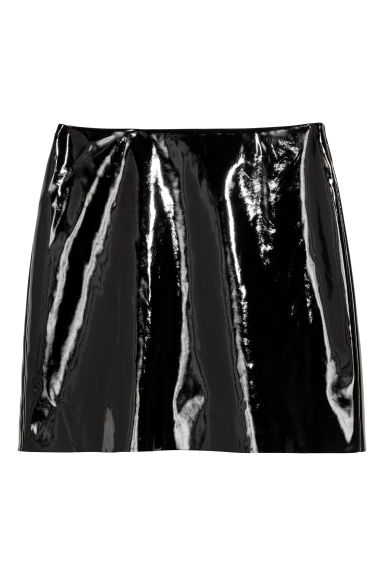 Patent skirt - Black - Ladies | H&M