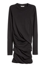 Draped jersey dress - Black - Ladies | H&M 2