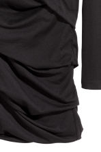 Draped jersey dress - Black - Ladies | H&M 3