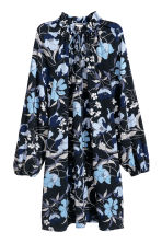 Patterned dress - Dark blue - Ladies | H&M CN 2