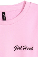 Short sweatshirt - Pink/Girl Hood - Ladies | H&M 3