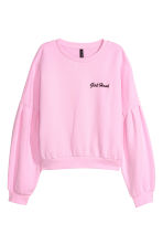 Short sweatshirt - Pink/Girl Hood - Ladies | H&M 2
