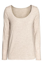 MAMA Long-sleeved nursing top - Light mole - Ladies | H&M CN 2