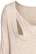 MAMA Long-sleeved nursing top - Light mole - Ladies | H&M CN 4