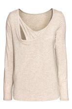 MAMA Long-sleeved nursing top - Light mole - Ladies | H&M CN 3