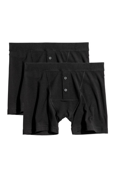 2-pack boxer shorts - Black - Men | H&M