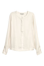 Wide-sleeved blouse - Natural white - Ladies | H&M CN 2