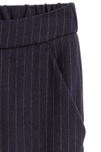 Suit trousers - Dark blue/White striped - Ladies | H&M 3