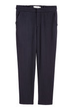 Suit trousers - Dark blue/White striped - Ladies | H&M 2