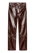 Coated leather trousers - Dark brown - Ladies | H&M IE 2