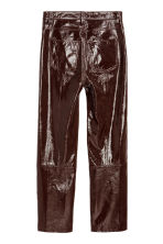 Coated leather trousers - Dark brown - Ladies | H&M IE 3