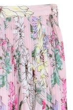 Pleated skirt - Light pink/Floral - Ladies | H&M 3