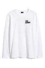 Long-sleeved piqué top - White/The Weeknd - Men | H&M CN 2