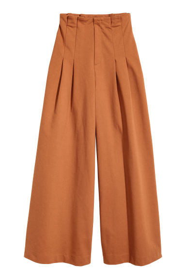 Wide trousers - Terracotta - Ladies | H&M CN 1