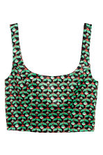 Patterned bustier - Green/patterned - Ladies | H&M IE 2