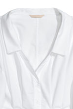 V-neck cotton blouse - White - Ladies | H&M 3
