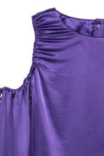 Satin top with drawstrings - Purple - Ladies | H&M 3