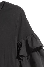 H&M+ Jersey flounce-sleeve top - Black - Ladies | H&M 3