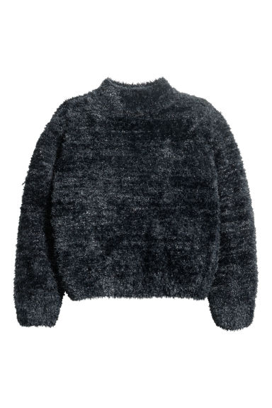 Knitted jumper - Dark grey/Glittery -  | H&M