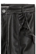 Frilled trousers - Black - Ladies | H&M 3