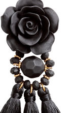 Tasseled Earrings - Black - Ladies | H&M CA 2