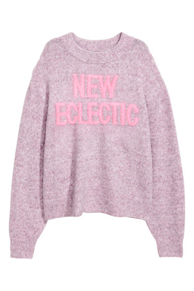 Knitted jumper - Light purple marl - Ladies | H&M