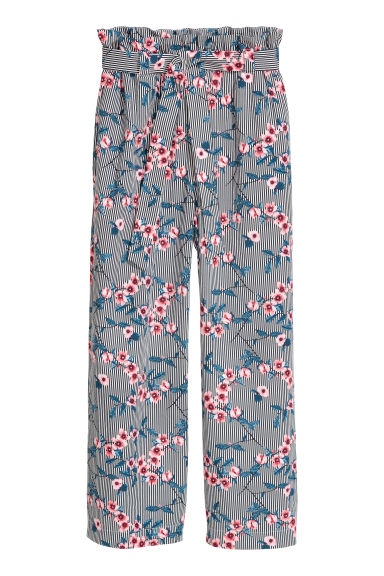Wide trousers - Blue - Ladies | H&M IE