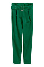 Paper bag trousers - Emerald green - Ladies | H&M IE 2