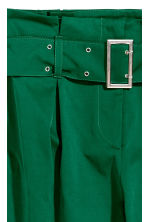Paper bag trousers - Emerald green - Ladies | H&M IE 3