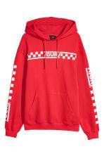 Printed hooded top - Bright red - Men | H&M 1