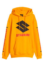 Printed hooded top - Bright yellow - Men | H&M CN 1