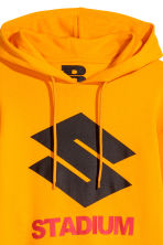 Printed hooded top - Bright yellow - Men | H&M CN 4