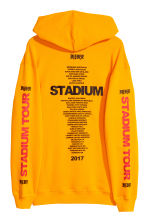 Printed hooded top - Bright yellow - Men | H&M CN 2