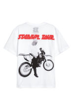 T-shirt with a print motif - White/Motorbike - Men | H&M 2