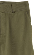 Wide twill trousers - Dark khaki green - Ladies | H&M GB 3
