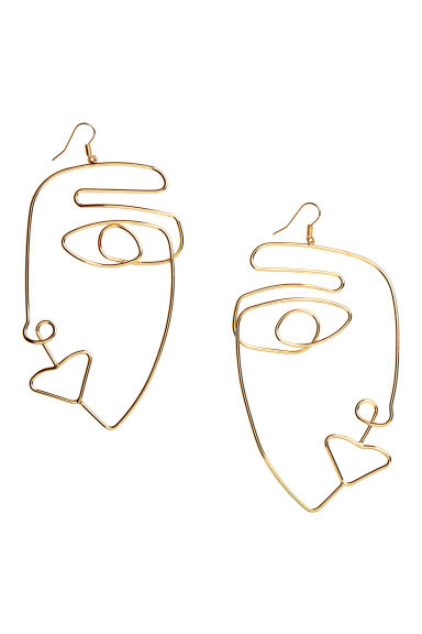 Large earrings - Gold-coloured - Ladies | H&M CN