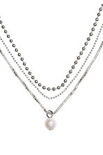 Three-strand necklace - Silver-coloured - Ladies | H&M 2