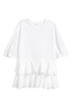 Jersey top with flounces - White - Ladies | H&M 2