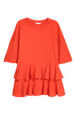 Top en jersey avec volants - Orange - FEMME | H&M FR 2