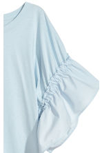 T-shirt with frilled sleeves - Light blue - Ladies | H&M 3