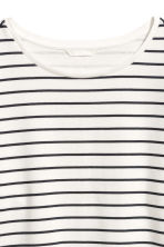 Wide jersey top - White/Blue striped - Ladies | H&M 3