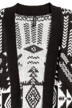 Jacquard-knit cardigan - Black/White - Ladies | H&M 3