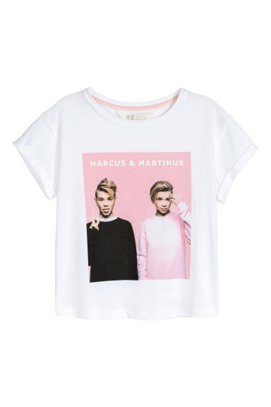 T-shirt met print - Wit/Marcus & Martinus -  | H&M BE 1